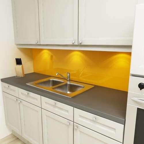 Küchenrückwand uni pastellorange