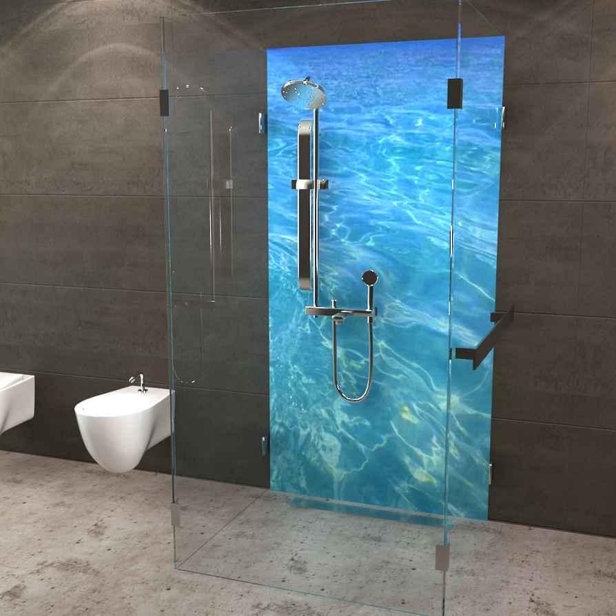 deine neue duschr ckwand wasser. Black Bedroom Furniture Sets. Home Design Ideas
