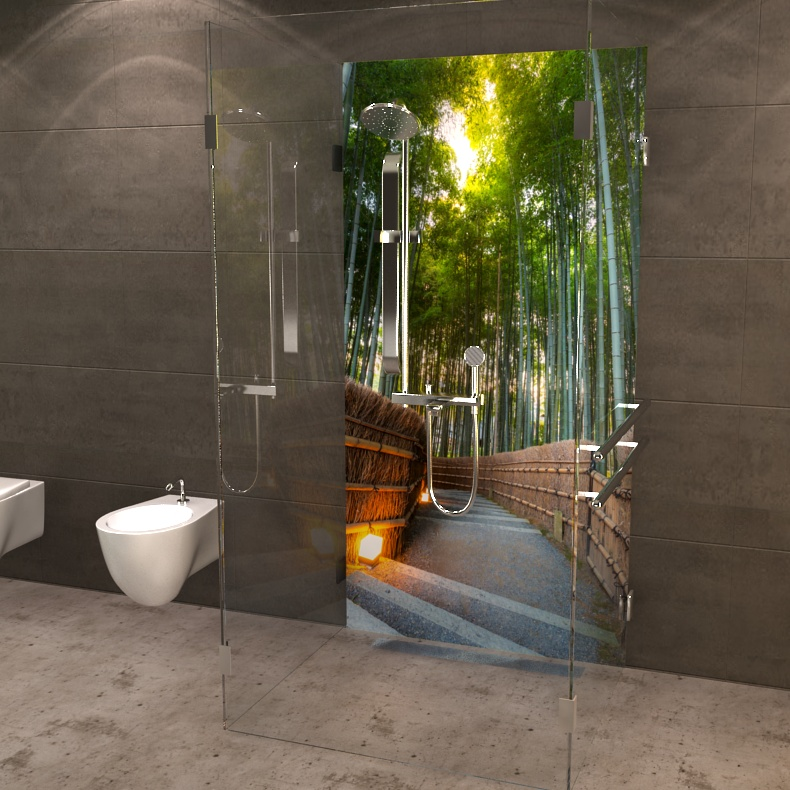 duschr ckwand bambuswald jetzt online bestellen. Black Bedroom Furniture Sets. Home Design Ideas