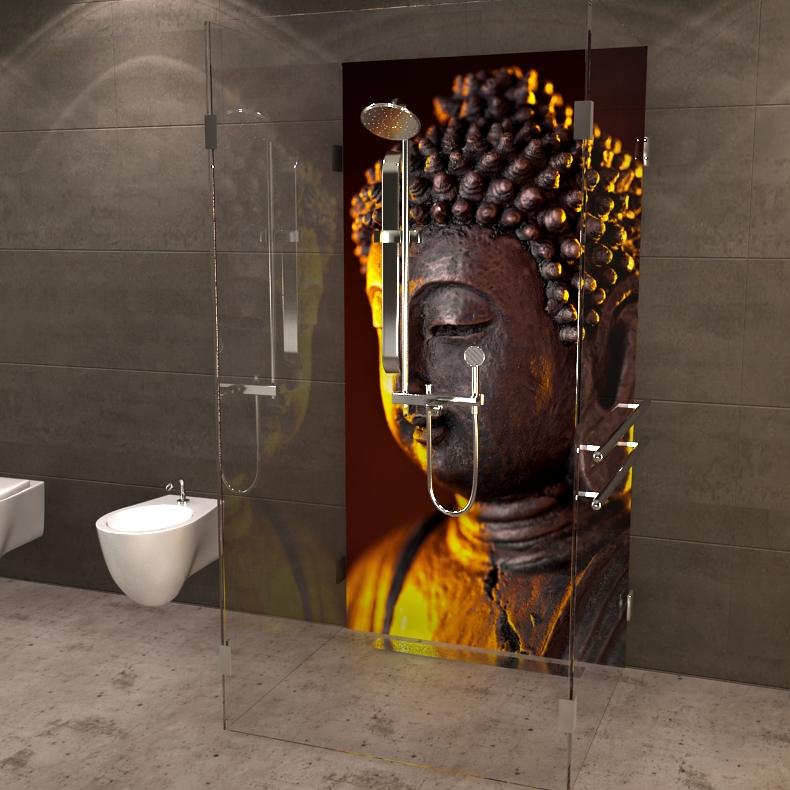 deine neue duschr ckwand buddha. Black Bedroom Furniture Sets. Home Design Ideas