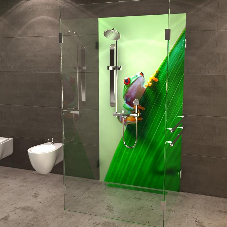 deine neue duschr ckwand frosch. Black Bedroom Furniture Sets. Home Design Ideas
