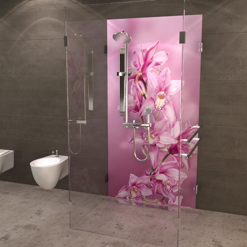 duschrckwand orchidee - Dusche Ruckwand Material