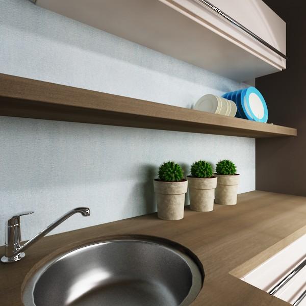 k chenr ckwand mediterran blau. Black Bedroom Furniture Sets. Home Design Ideas