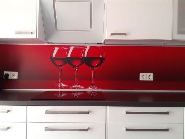 Küchenrückwand Weingläser
